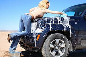 Car Wash in Jeans