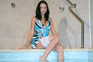 Wet Dress & Stockings 2