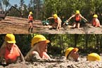 woman sinking in quicksand video