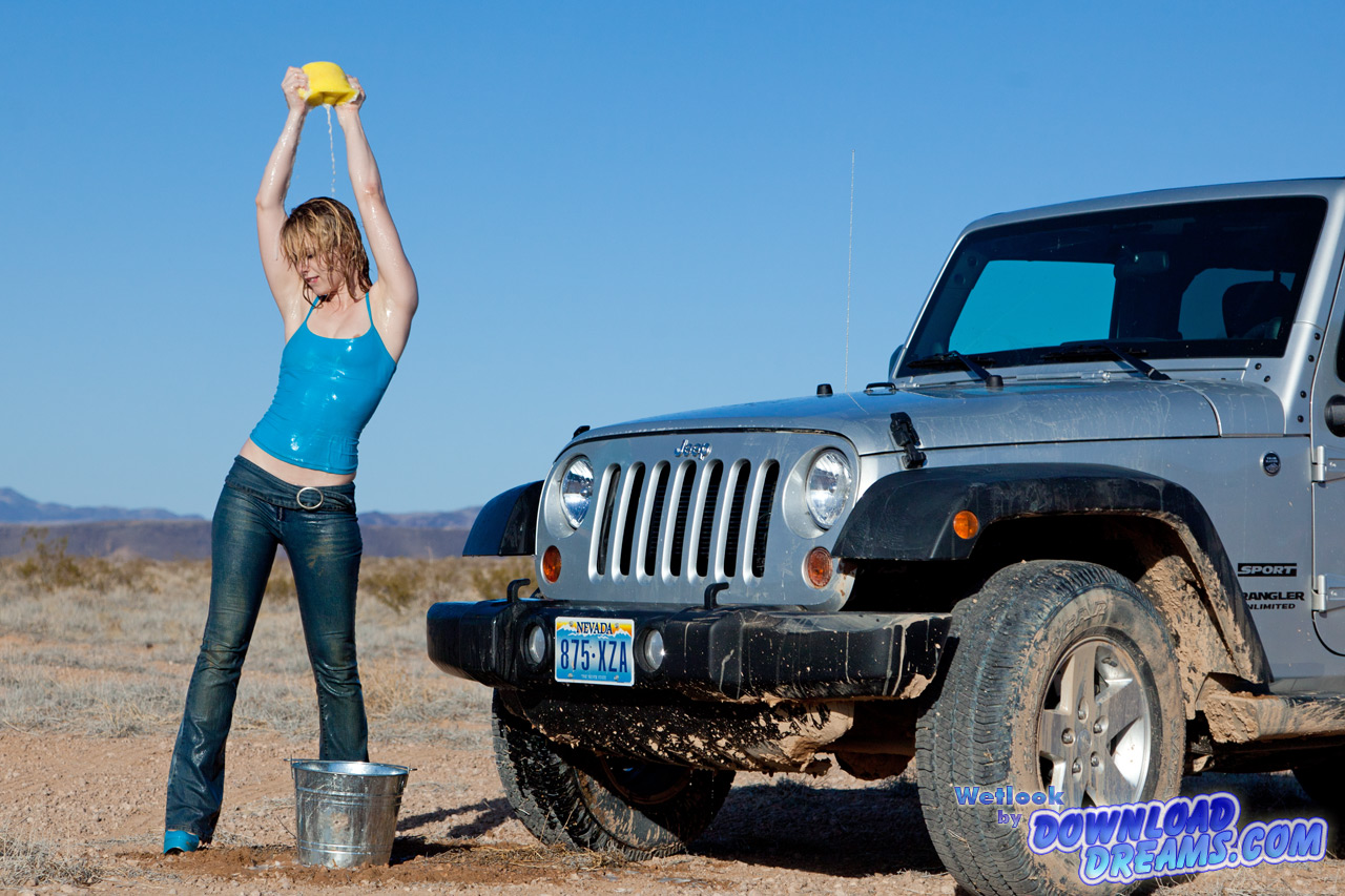 Do It Yourself Car Wash >> Car Wash in Jeans 3 - 11:40 min - Wetlook in Jeans, high ...